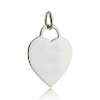 Engravable Heart Charm - 925 Sterling Silver