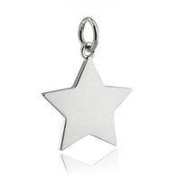 Engravable Star Charm - 925 Sterling Silver