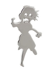 Zombie Girl Charm - 925 Sterling Silver