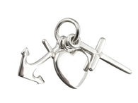 Faith Hope & Charity Charm - 925 Sterling Silver