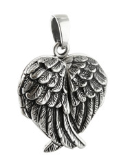 Angel Wing Locket With Crossed Wings - 925 Sterling Silver
