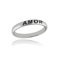 Amor Narrow Band Ring - 925 Sterling Silver