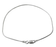 Snake Chain Anklet 9-inch - Sterling Silver