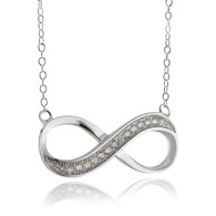 Infinity CZ Necklace - 925 Sterling Silver