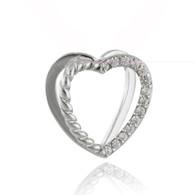 3D Heart Pendant - 925 Sterling Silver