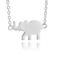Elephant Necklace with Chain - 925 Sterling Silver