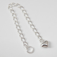 """Sterling Silver Chain Extender 3"""" with Split Ring, 2.6mm"""