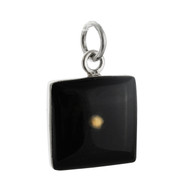 Mustard Seed Square Charm - 925 Sterling Silver