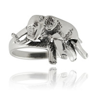 Elephant Ring Movable - 925 Sterling Silver