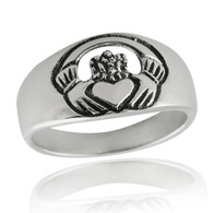 Claddagh Friendship Ring - 925 Sterling Silver