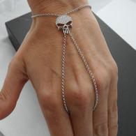 Sterling Silver Hand Slave Bracelet