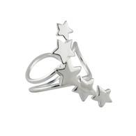 Stars Ear Cuff Single Earring - 925 Sterling Silver