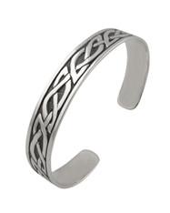 Celtic Knot Cuff Bracelet - Sterling Silver