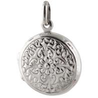 Round Photo Locket  - 925 Sterling Silver