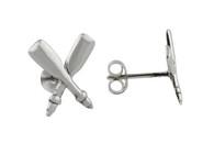 Rowing Oar Earrings - 925 Sterling Silver