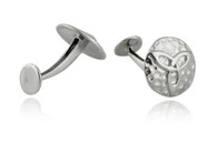 Hammered Celtic Trinity Knot Cuff Links - 925 Sterling Silver