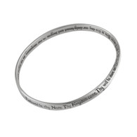 The Lord's Prayer Mobius Bangle Bracelet - 925 Sterling Silver