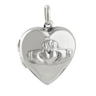 Claddagh Heart Locket - 925 Sterling Silver
