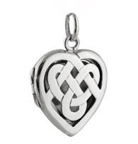 Celtic Knot Heart Locket - 925 Sterling Silver