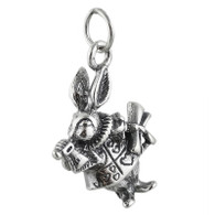White Rabbit Charm - 925 Sterling Silver