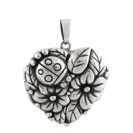 Heart Ladybug Locket - 925 Sterling Silver