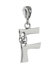 Celtic Initial Letter F Pendant - 925 Sterling Silver