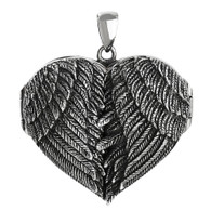 Angel Wing Locket Large Size - 925 Sterling Silver