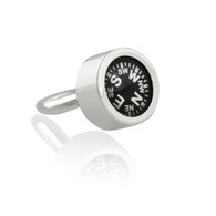 Working Compass Ring - 925 Sterling Silver