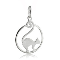 Fancy Cat Pendant  - 925 Sterling Silver