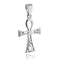Ankh Pendant - 925 Sterling Silver - Egyptian Key of Life Symbol