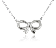 Bow Necklace - 925 Sterling Silver