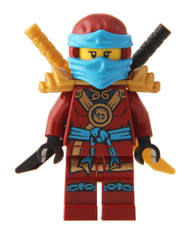 LEGO® Ninjago™ Minifigure - Deepstone Robes Nya with 2 Swords