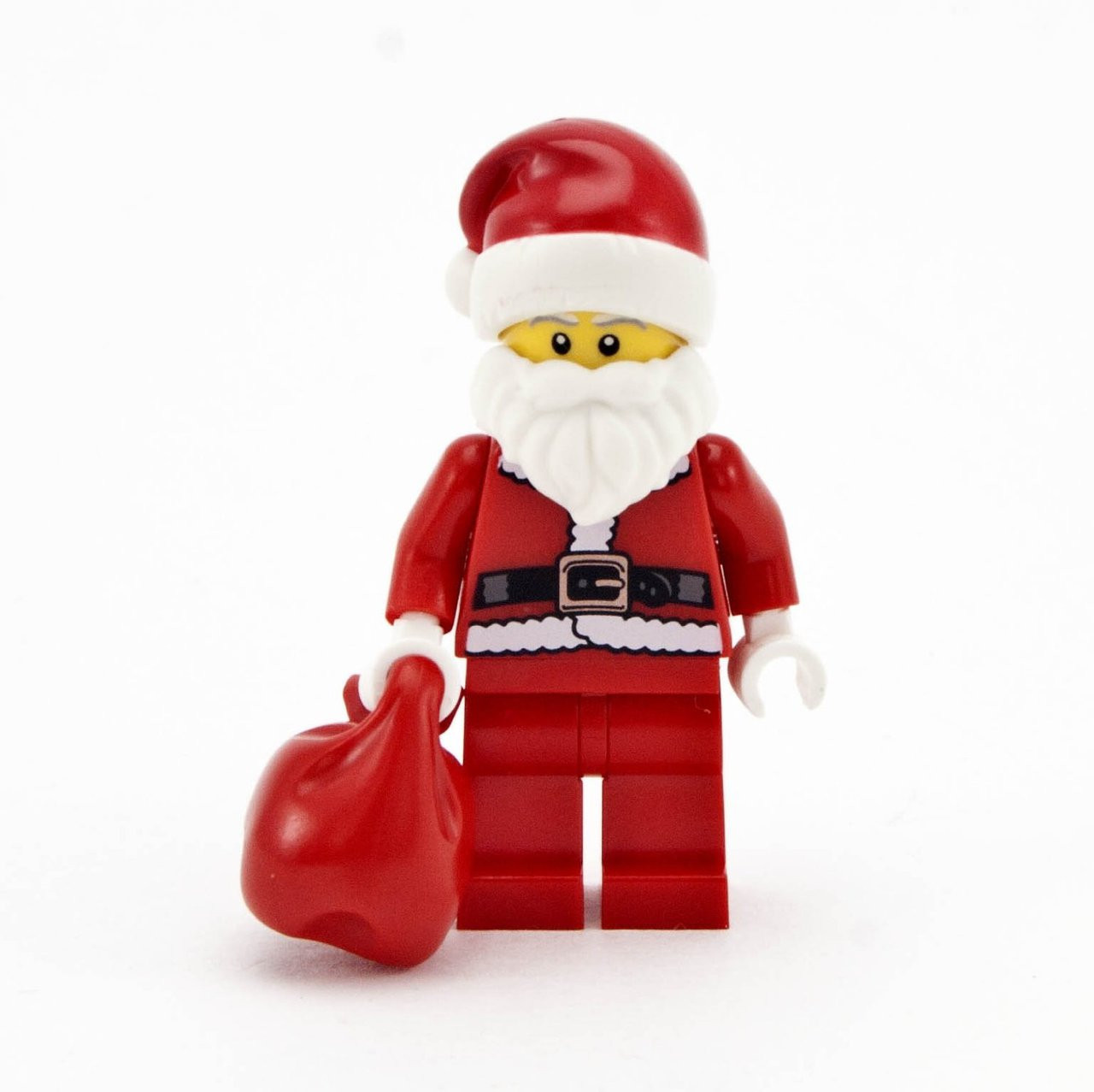 lego holidays minifigure santa claus with red sack. Black Bedroom Furniture Sets. Home Design Ideas