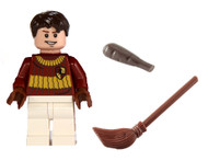 LEGO® Harry Potter™ Oliver Wood in Quidditch Gear with Club and Broom (no cape)