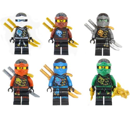 LEGO® Ninjago™ Ninja\'s set of 6 - Lloyd, Nya, Zane, Cole, Jay, Kai ...