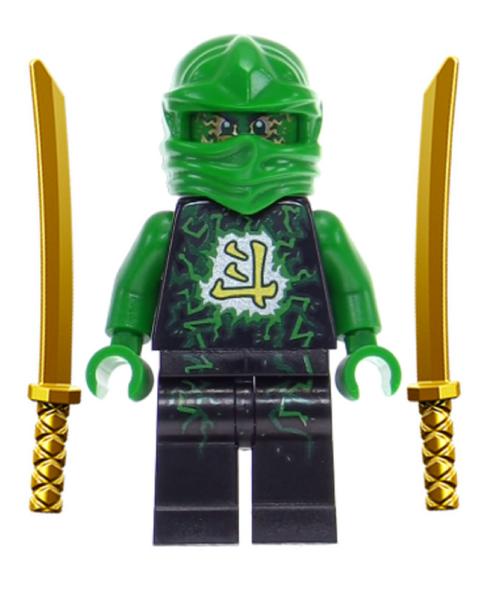 Lego ninjago lloyd airjitzu with dual gold swords the brick people - Ninjago lloyd gold ...