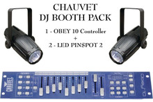 Chauvet DJ booth Pack obey 10 DMX controller 2 x LED Pinspot2 $10 Instant Coupon use Promo Code: $10-OFF