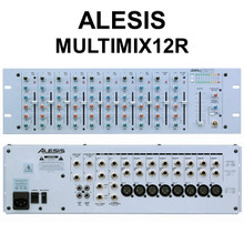 ALESIS MULTIMIX12R Compact 12 Channel Stereo 3 Space Rackmount Mixer $10 Instant Off Use Promo Code: $10-OFF