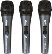 SENNHEISER THREEPACK 835S Lead Vocal Mics with Clips and Carry Pouch $10 Instant Coupon use Promo Code: $10-OFF