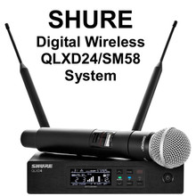 SHURE QLXD24/SM58 Handheld Rackmount Digital Wireless Mic System $25 Instant Coupon Use Promo Code: $25-OFF