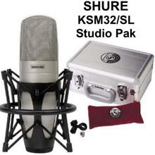 Shure KSM32/SL large diaphragm condenser mic studio pak  $20 Instant Coupon use Promo Code: $20