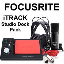FOCUSRITE iTRACK STUDIO DOCK PACK Complete Recording System