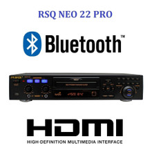 RSQ NEO 22 PRO Multi Format Single Bluetooth Karaoke Player / Recorder with Remote & Rack Ears $5 Instant Coupon use Promo Code: $5-OFF