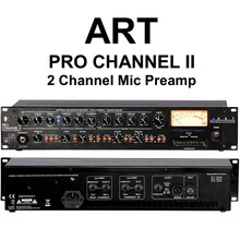 "ART PRO CHANNEL II Discrete Class ""A"" Tube Rackmount Mic Preamplifier $15 Instant Coupon use Promo Code: $15-OFF"