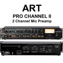 ART PRO CHANNEL II 2 CHANNEL RACKMOUNT MIC PREAMP $10 INSTANT COUPON USE PROMO CODE: $10-OFF