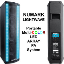 NUMARK LIGHTWAVE 400w Total Peak Portable LED Array PA System $25 Instant Coupon Use Promo Code: $25-OFF