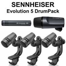 Sennheiser Evolution 5 drumPack (3) e604 (1) e602-II (1) e614 mics clips bags $25 Instant Coupon use Promo Code: $25-OFF