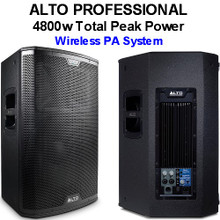 ALTO PROFESSIONAL BLACK 15 4800w Total Peak Active Wireless PA System $50 Instant Coupon Use Promo Code: $50-OFF
