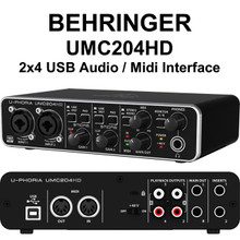 Behringer U-phoria UMC204HD 2x4 USB audio / midi interface $10 Instant Coupon use Promo Code: $10-OFF