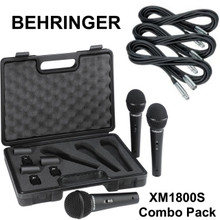 Behringer xm1800s combo Pack (3) mics, cables, clips & case $5 Instant Coupon use Promo Code: $5-OFF